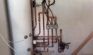 Unvented cylinder installation in Hertfordshire