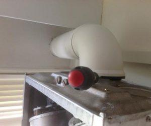 screwdriver in a boiler flue